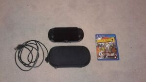 Playstation Vita with case, memory card and borderlands