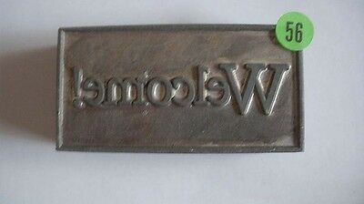 Kwikprint Welcome Hot Foil Stamping Printing Embossing Cast Die