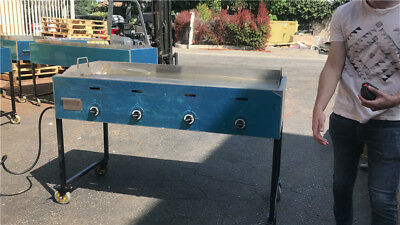 48 Outdoor Griddle Plancha Flat Top Taco Cart Hot Dogs Pupusas Cooler Depot New