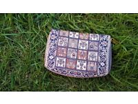 Traditional Turkish Woven Tapestries Multi Color Zipped Wallet/Purse