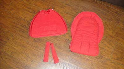 NEW STOKKE XPLORY RED STROLLER ACCESSORIES SHOPPING BAG SEAT PADDING +