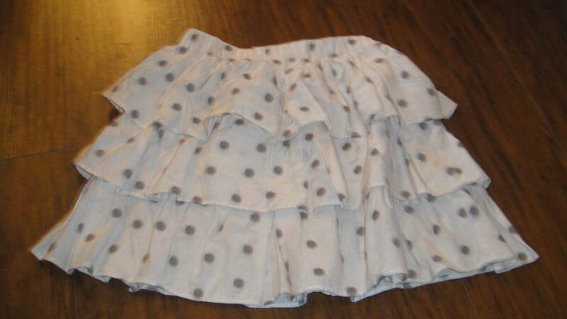 CREWCUTS GIRLS 10 POLKA DOT SKIRT