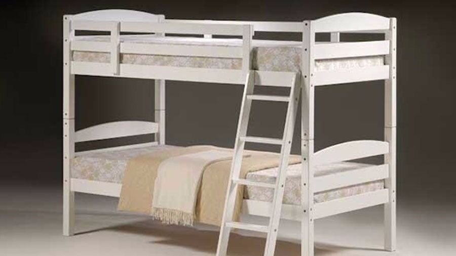 100 Guaranteed Price Brand New Solid Wooden White Bunk Bed With