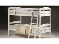 **100% GUARANTEED PRICE!**Brand New Solid Wooden White Bunk Bed With Mattress-Single Bed/Double Bed