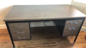 Steel executive desk