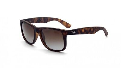 New Ray-Ban Justin Classic Polarized Brown Gradient Tortoise Sunglasses RB4165