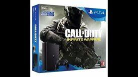PS4 Slim 500GB Storage, 1 Controller and Call of Duty: Infinite Warfare