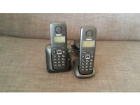 Cordless Phones - Gigset A120 Twin DECT Cordless Phone Set (Black)