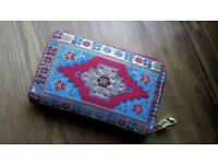 Exotic, Carpet Design, Red Turkish Purse/Wallet