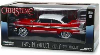 Christine Movie 1958 Plymouth Fury Diecast 1:24 Greenlight 8 inch EVIL Version
