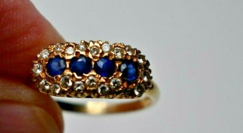 Antique Dreicer & Co 14K Gold Sapphire and Diamond Ring Signed BEAUTIFUL!