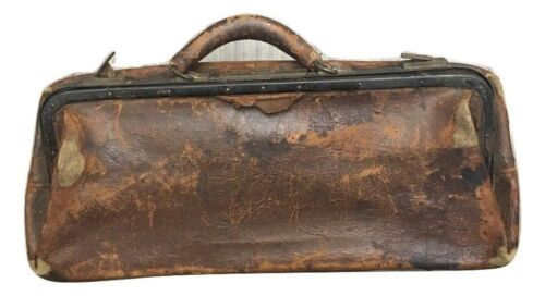 Belber Vintage Leather Doctors Travel Handbag