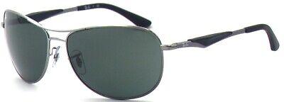 Ray-Ban Damen Herren Sonnenbrille RB3519 004/71 62mm silber Metall Vollrand G5 H