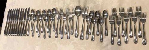 43 Pc Lot VTG Oneida Flatware Knives Forks Spoons SS Teardrop Contemporary - $49.00