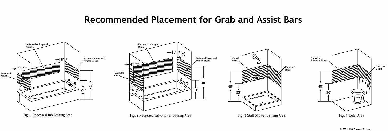 Stainless Steel Bath Safety Grab Bar 1 1/2x12in Heavy Duty Bathroom Grip Support - $13.95