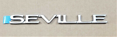 NEW 1998-2004 CADILLAC SEVILLE CHROME DOOR / TRUNK EMBLEM OEM NOS (1 PIECE)