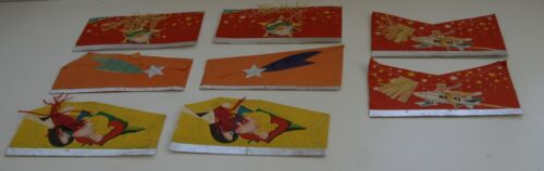 LOT OF 6 ORIGINAL VINTAGE PAPER/CREPE PARTY HATS UNUSED FROM THE 1940s ROCKET