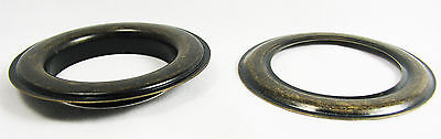 2pc. Large #12  Antique Brass Curtain Grommets with Washers