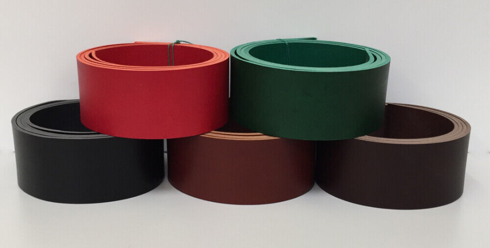 Veg tan leather belt blanks strip strap 3.5-4mm thick 20mm//25mm//40mm 47/'/' long