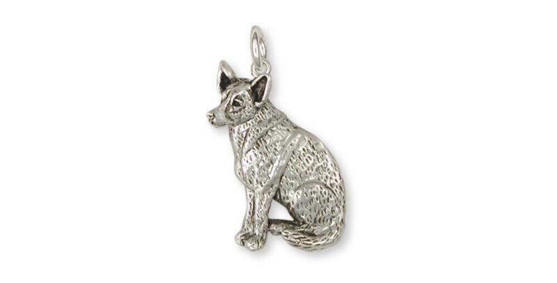 Australian Cattle Dog Charm Jewelry Sterling Silver Handmade Dog Charm ACD1-C