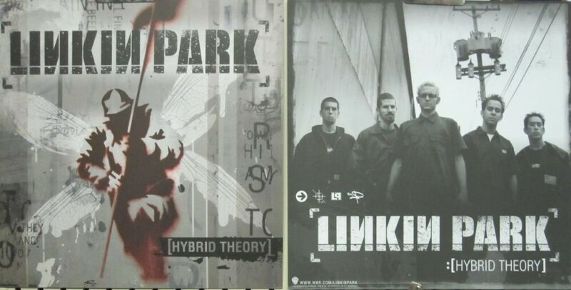Linkin Park 2000 Hybrid Theory 2 Sided promo poster/flat Flawless New Old Stock