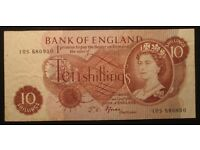 Bank of England Ten Shilling and One Pound Notes