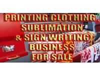 Printing sign writing business for sale