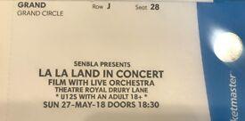 2 x tickets for La La Land film cinema with live orchestra!*