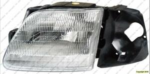 Head Light Passenger Side With Bracket [Production Before 07/1996] High Quality Ford F150