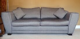 Two matching Chocolate Brown Sofas