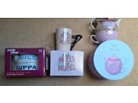 2 Teapots for one (Jamie Oliver and NEXT) and 1 Shaped Handle Mug