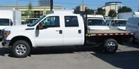 2013 Ford F-350 crewcab 4x4 gas with flat deck