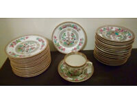 TEA SET of Cups saucers and plates