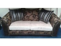 New 3 and 2 seater sofas in brown