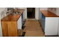 Solid Beech Kitchen Worktop (Used)