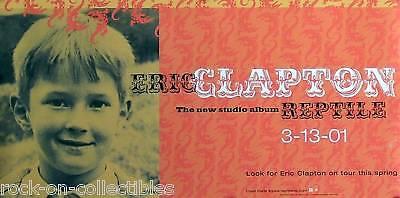 Eric Clapton 2001 Orange Reptile Original Promo Poster