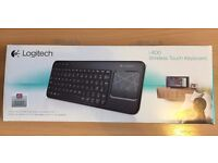 Logitech K400 Wireless Touch Keyboard (New/Unuse)
