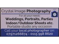 Crystal image photography:- for weddings, portrait, parties, portable studio, 15 years experience