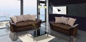 Stunning brand new chenille fabric sofa's**UK DELIVERY AVAILABLE