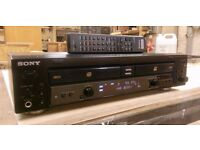 Sony RCD-W100 Dual Deck CD Recorder with remote control
