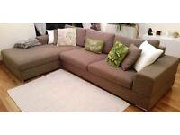 "Dwell ""Verona"" (left-hand) corner sofa in Mocha - MORE THAN HALF PRICE!"