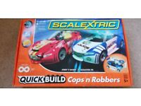 Scalextric Quick Build Cops & Robbers Figure of 8 Track in its original box (Age 5+)