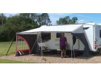 Caravan awning SUN CANOPY (1000 - 1025cms) but adapted to fit larger caravan see photos for details