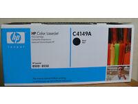 HP C4149A Black Toner Cartridge LaserJet, GENUINE, New in Opened Box, Surplus Stock