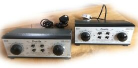 TWO DUETTE DUAL CONTROLLERS FOR MODEL RAILWAYS IN EXCELLENT CONDITION AND FULL WORKING ORDER
