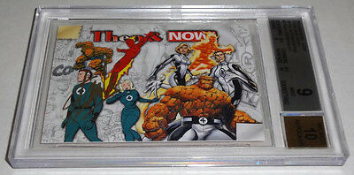 STAN LEE MARK BAGLEY 2014 Marvel Now and Then Dual Autograph Signatures BGS 9 💎