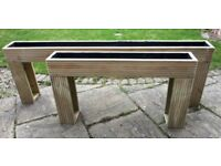 Raised Planter, Fully Lined, Ideal For Patio or Indoor. Top Quality Pressure Treated Decking Timber.