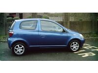 Toyota yaris, 3 door hatchback, 1.0 litre petrol, *3 keys* Blue