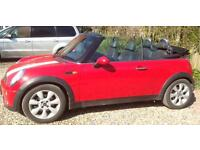 Mini Cooper convertible 2004 with private number plate M55 CDR