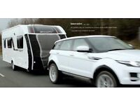 TOW PRO LITE Universal Size Caravan towing cover to protect front from chippings - with lights